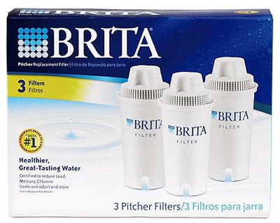 Brita Wave 10 Cup Water Pitcher Plus 2 Advance Filters Red/Clear