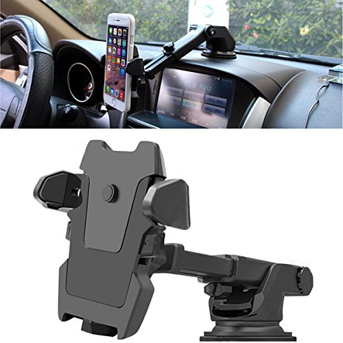 Universal Cell Phone Mount for Car,No Blocking for Sight,Durable Dashboard Cell Phone Holder Compatible with iPhone X 8 Plus 7 6s SE Samsung Galaxy S5//S6//S7//S8 /& Other Smartphone