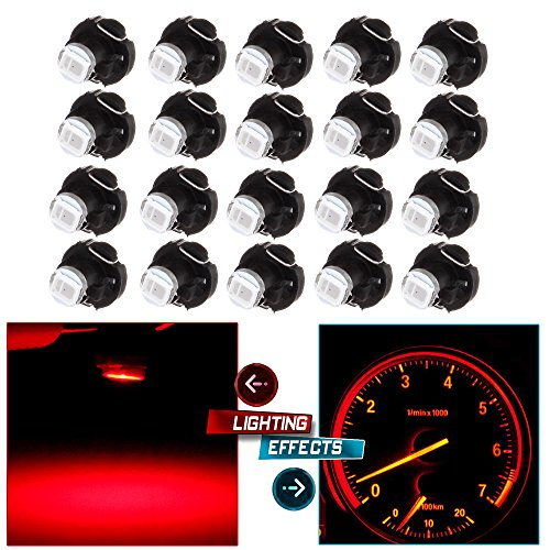 10X White T3 Neo Wedge SMD LED Panel A//C Climate Control HVAC Lights Switch Lamp